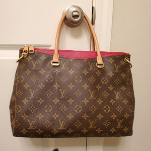 Louis Vuittom Red Pallas Shoulder Bag